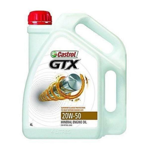 Castrol GTX 4lt 20W50 Λιπαντικό