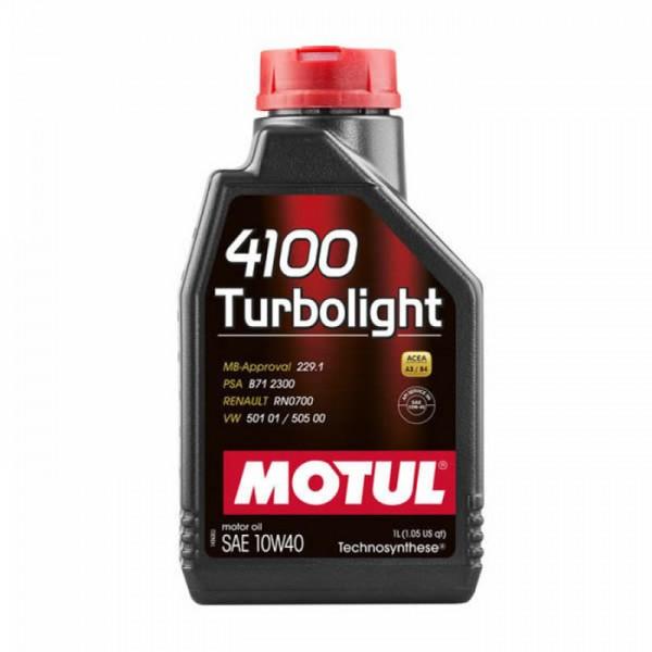 Motul 4100 Turbolight 1lt 10W40 Λιπαντικό
