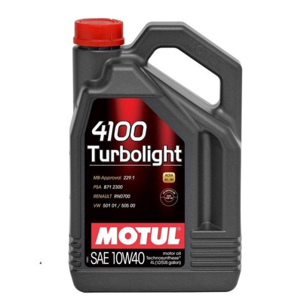 Motul 4100 Turbolight 4lt 10W40 Λιπαντικό