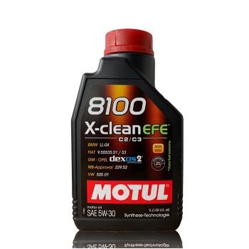 Motul 8100 X-Clean Efe 1lt 5W30 Λιπαντικό