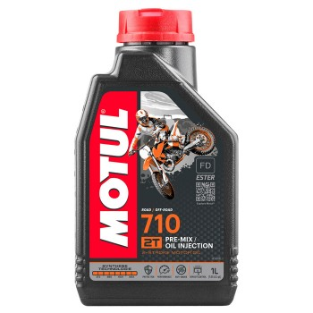Motul 710 2T Synthetic Pre-mix 1lt Oil Injection Λιπαντικό