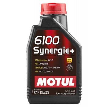 Motul 6100 Synergie+ 1lt 10W40 λιπαντικό