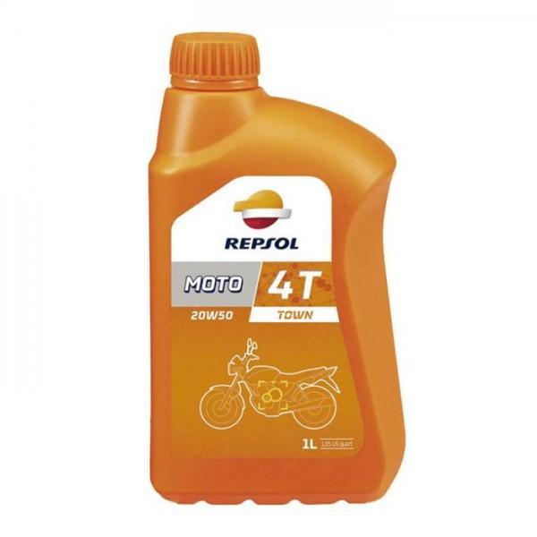 Repsol Moto Town 4T 1lt 20w50 λιπαντικό